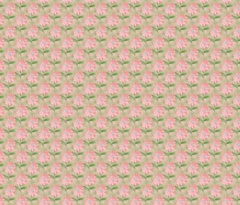 FIELD OF DAISIES_ SMALL fabric by anino on Spoonflower - custom fabric