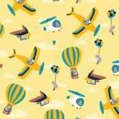 Flyingsquirrels_fabric_yellow_and_blue_21_by_21_shop_thumb