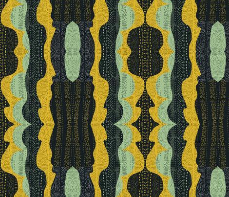 Tribal minty fabric by akwaflorell on Spoonflower - custom fabric