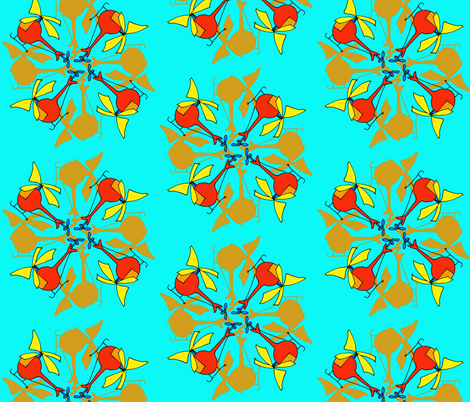 8helis fabric by blumenlimonade on Spoonflower - custom fabric