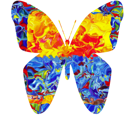 Circus Butterfly (large scale design) fabric by anniedeb on Spoonflower - custom fabric