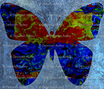 Circus Butterfly in Blue (large scale design)