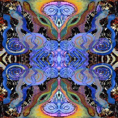 tribal snake medicine fabric