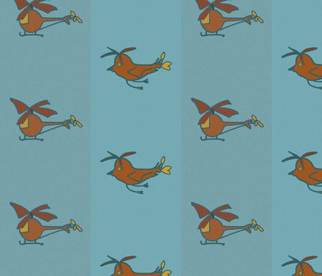 heliandbirds_brown fabric by blumenlimonade on Spoonflower - custom fabric