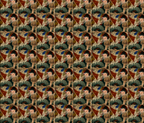 The Lady in Repeat fabric by anniedeb on Spoonflower - custom fabric