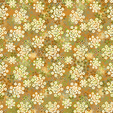 Verbena Ocher Beige fabric by joanmclemore on Spoonflower - custom fabric