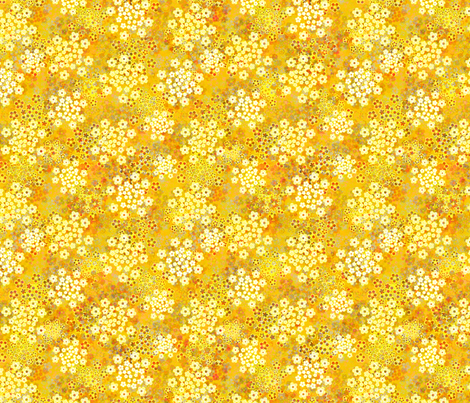 Verbena Yellow fabric by joanmclemore on Spoonflower - custom fabric