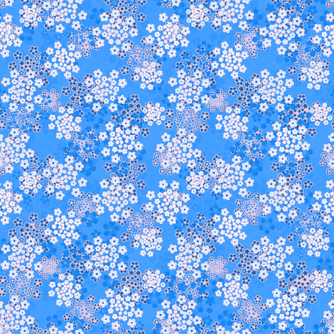 Verbena blue fabric by joanmclemore on Spoonflower - custom fabric