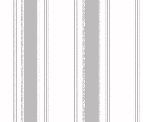 French Ticking in gris fabric by domesticate on Spoonflower - custom fabric