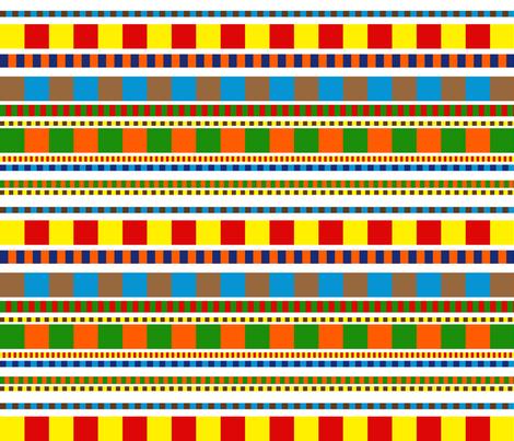 Chicklet Stripe fabric by vo_aka_virginiao on Spoonflower - custom fabric