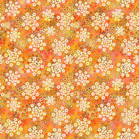 Verbena Orange fabric by joanmclemore on Spoonflower - custom fabric