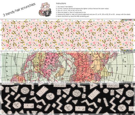 Hair scrunchies crafting fabric by lucybaribeau on Spoonflower - custom fabric