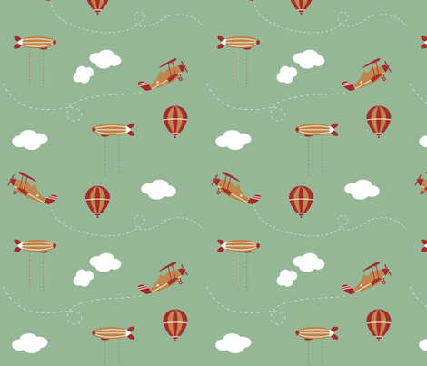 aviation_pattern_spoonflower fabric by abzhadz on Spoonflower - custom fabric