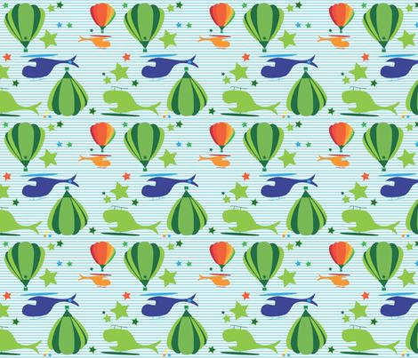 Aviator Stripes fabric by annalisa222 on Spoonflower - custom fabric