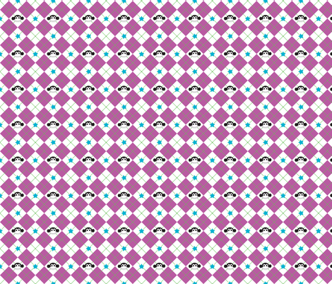 Purple Argyle Monkey Print fabric by pumpkinbones on Spoonflower - custom fabric
