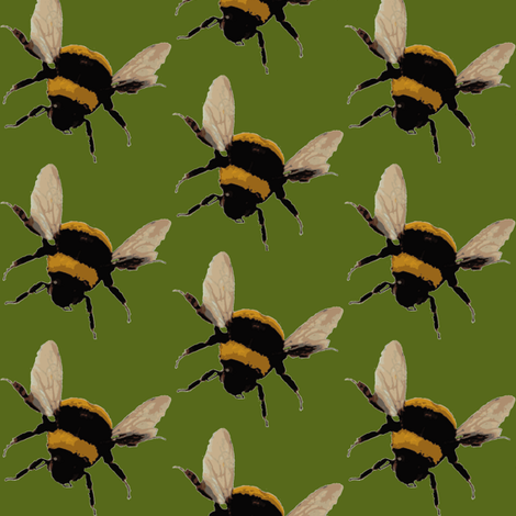 bee's / olive fabric by paragonstudios on Spoonflower - custom fabric