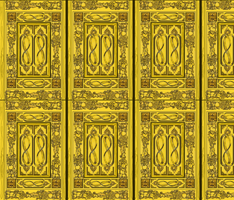 gg English restoration period woodcarving fabric by fabricatedframes on Spoonflower - custom fabric