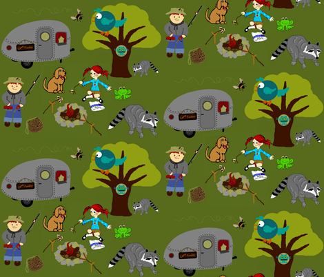 Camp Funday fabric by paragonstudios on Spoonflower - custom fabric