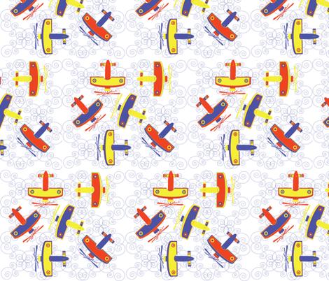aviation fabric by akwaflorell on Spoonflower - custom fabric