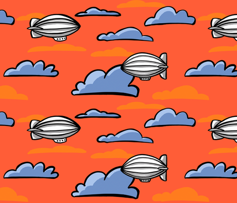 Red Sky At Night, Sailor's Delight! fabric by gershamabob on Spoonflower - custom fabric