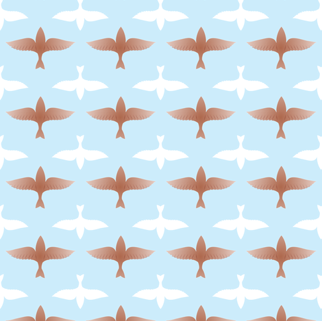 Barque ailée fabric by petitspixels on Spoonflower - custom fabric
