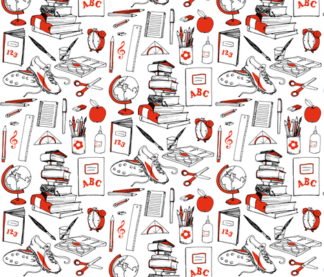 doodle_supplies fabric by johanna_design on Spoonflower - custom fabric