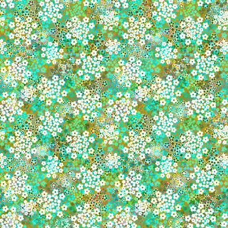 Verbena Blue Green fabric by joanmclemore on Spoonflower - custom fabric