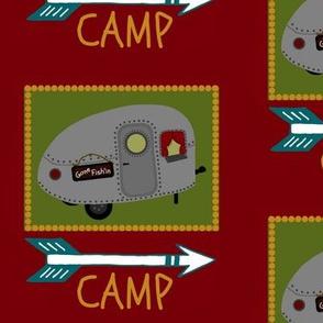At Camp Funday / camper sign
