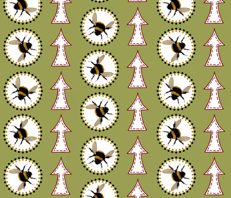 Bees nest / arrow fabric by paragonstudios on Spoonflower - custom fabric