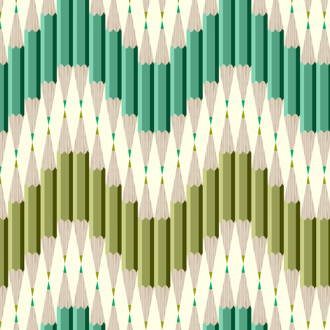 Pencil Chevron fabric by candyjoyce on Spoonflower - custom fabric
