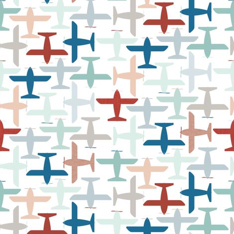 Aviation fabric by ttoz on Spoonflower - custom fabric