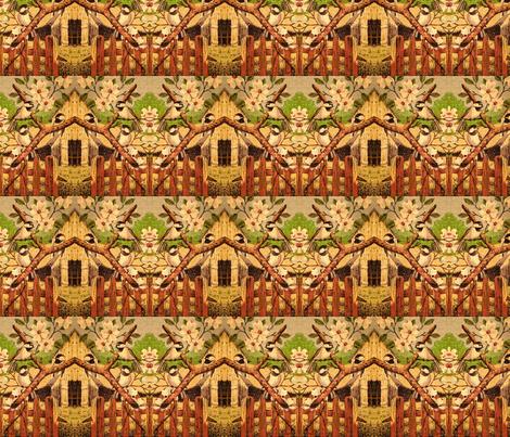 vintage_chickadee_bird_picture fabric by vinkeli on Spoonflower - custom fabric