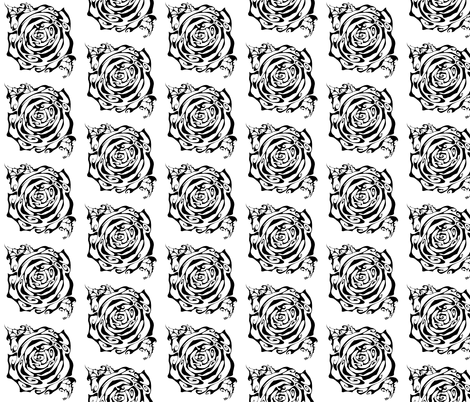 Inkblot Rose fabric by art_rat on Spoonflower - custom fabric