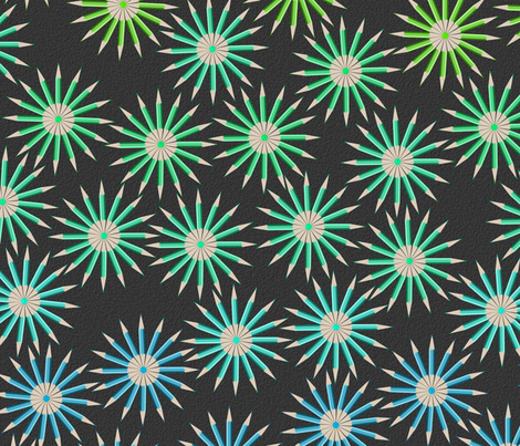 Pencil Stars  fabric by candyjoyce on Spoonflower - custom fabric