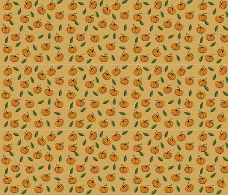 Pumpkinella fabric by duru_eksioglu on Spoonflower - custom fabric