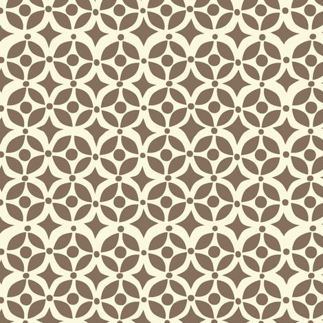 Nesting geometric brown fabric by bethany@bzbdesigner_com on Spoonflower - custom fabric