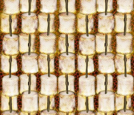 Toastin' the 'Mallows fabric by glimmericks on Spoonflower - custom fabric