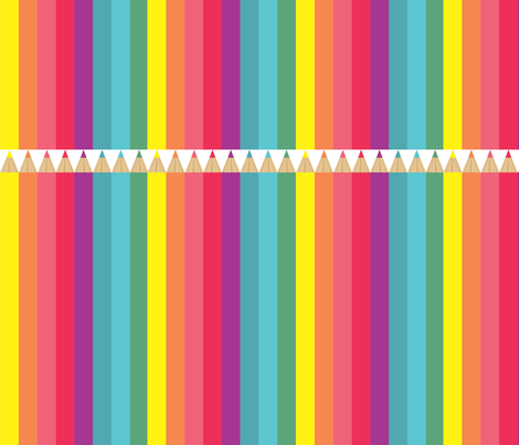 pencil fabric by policunha on Spoonflower - custom fabric