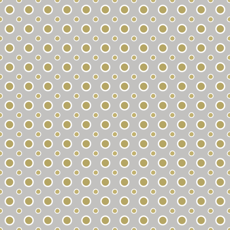 Gold and Silver dots fabric by grafiketgrafok on Spoonflower - custom fabric