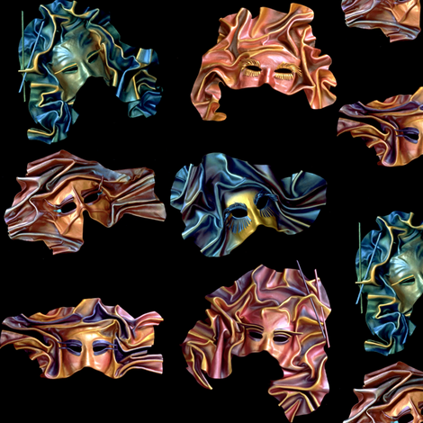 unknown masks2 fabric by craftyscientists on Spoonflower - custom fabric