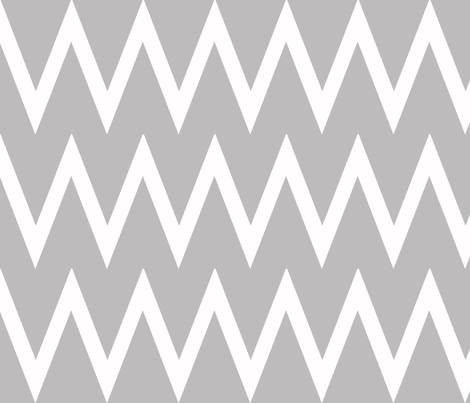Tall Chevron Chinchilla fabric by honey&fitz on Spoonflower - custom fabric