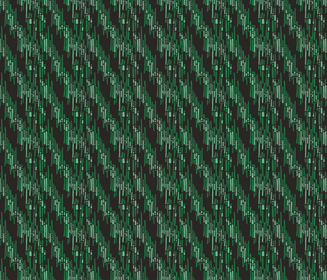 Linnea Kiwi Green fabric by spugnardidesign on Spoonflower - custom fabric