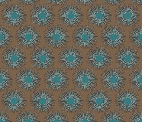 Creature Power Mocha fabric by brainsarepretty on Spoonflower - custom fabric