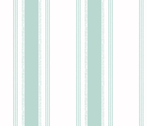 French Ticking in jade fabric by domesticate on Spoonflower - custom fabric