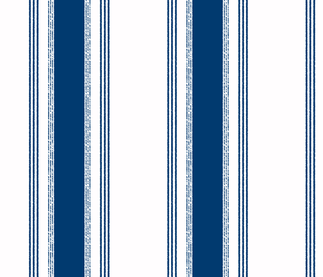 French Ticking in marine fabric by domesticate on Spoonflower - custom fabric