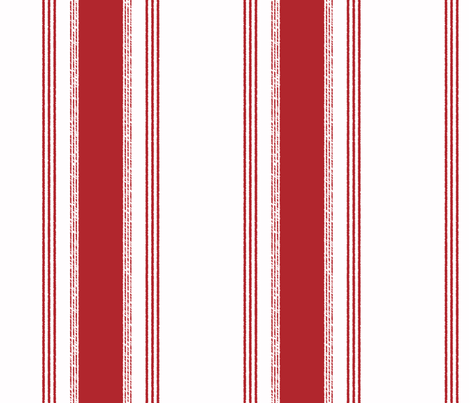 French Ticking in rouge fabric by domesticate on Spoonflower - custom fabric