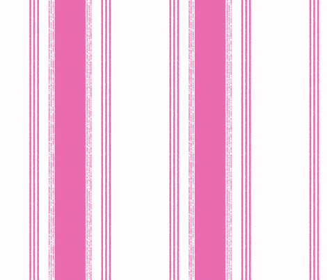 French Ticking in framboise fabric by domesticate on Spoonflower - custom fabric