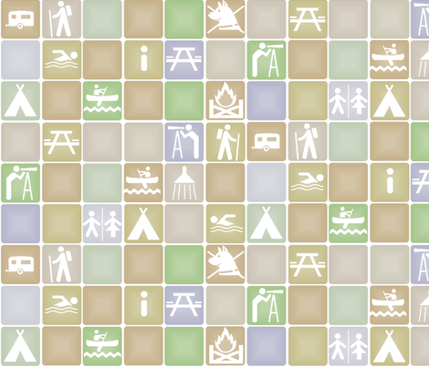 Camping fabric by wiccked on Spoonflower - custom fabric