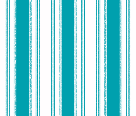 French Ticking in paon fabric by domesticate on Spoonflower - custom fabric