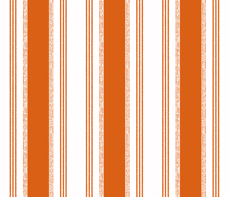 French Ticking in potiron fabric by domesticate on Spoonflower - custom fabric
